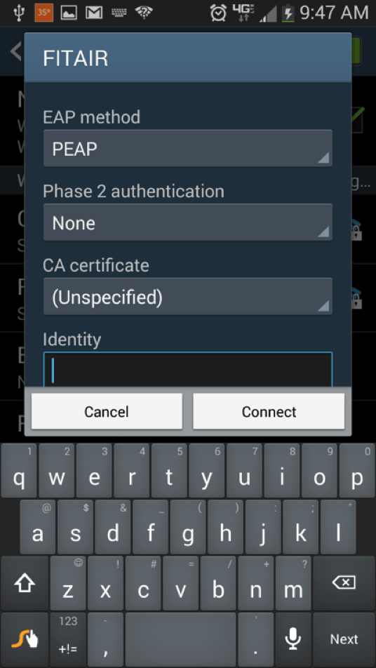 Android EAP and Phase 2 Settings - FIT Information Technology