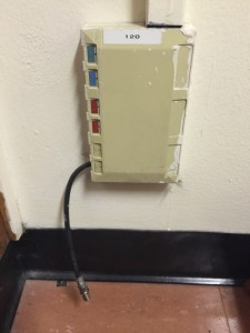 Dorm Room Ethernet and Cable Box Example