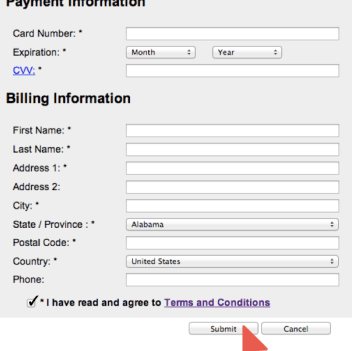 Payment and Billing Inforamtion for eAccounts