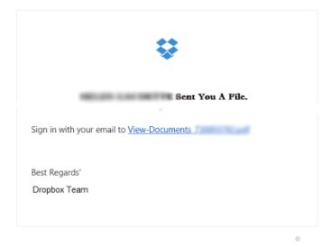 Phishing attempt through DropBox