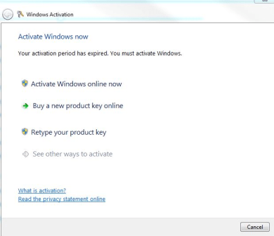 """Windows Activation pop-up stating """"Activate Windows now"""""""