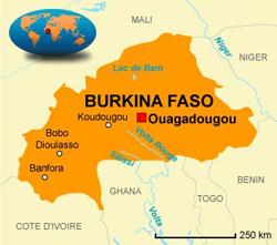 Carte Burkina Faso