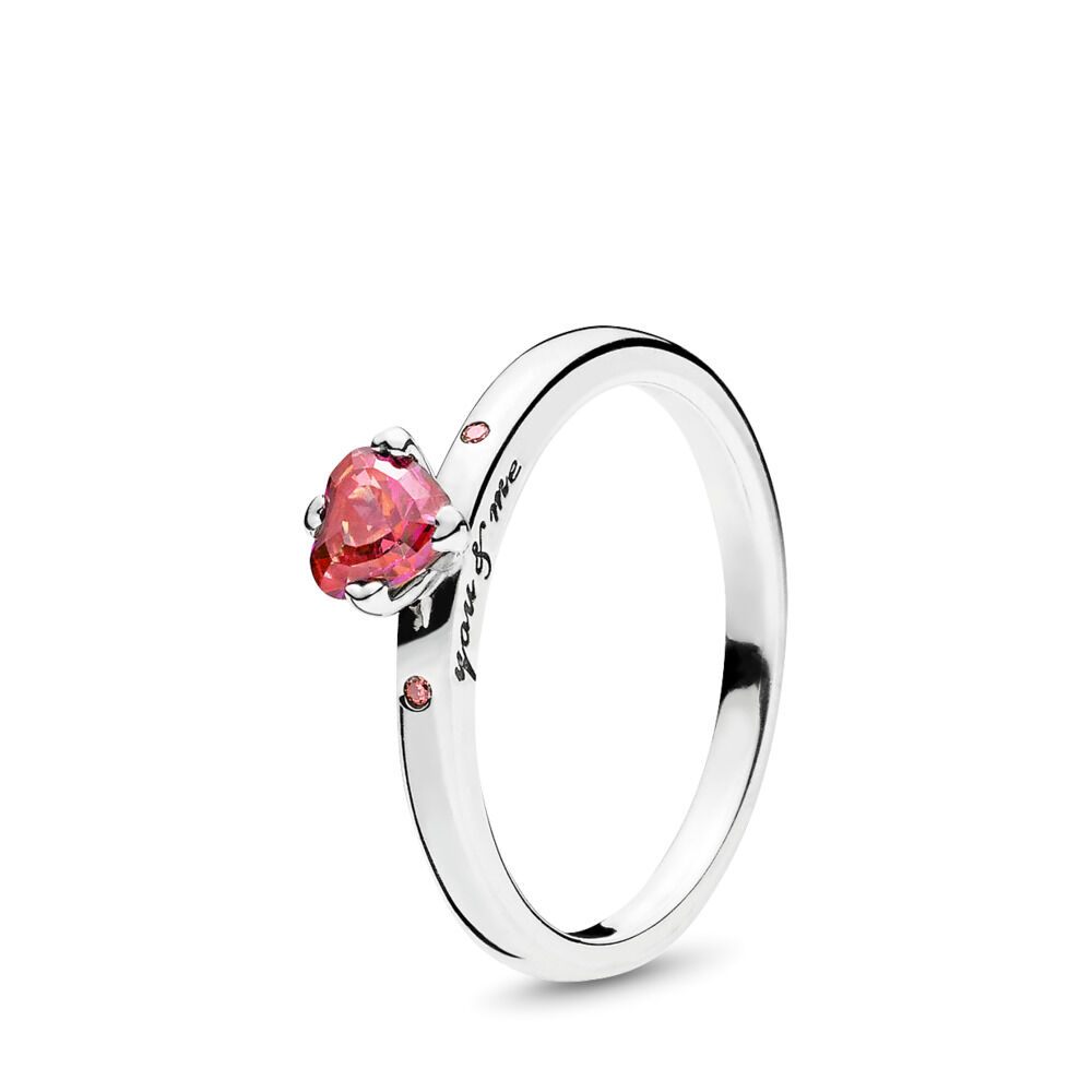 Anello You Amp Me Argento Sterling 925 Rosa Zirconia