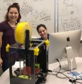 Ed Tech staff with Luzbot Mini 3D printer