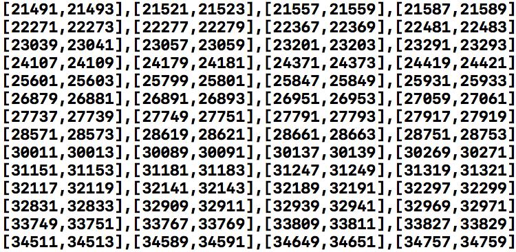 SwiftでPlaygroundを使って双子素数のリストを取得する