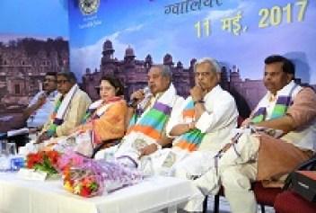 Kendriya Grameen Vikas mantri shri Narendra singh Tomar Paryatan Vibhag Dwara ayojit Paryatan Vimarsh karyashala me (8)(1)