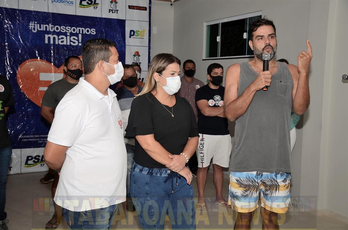 Prefeita reeleita Francimara, vice eleito Raliston e vereadores vitoriosos nas urnas agradeceram em Live da Vitória