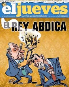 """La copertina censurata del settimanale satirico """"el jueves"""""""