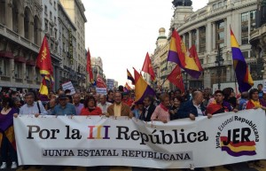 Una manifestazione per la 3° Repubblica Spagnola