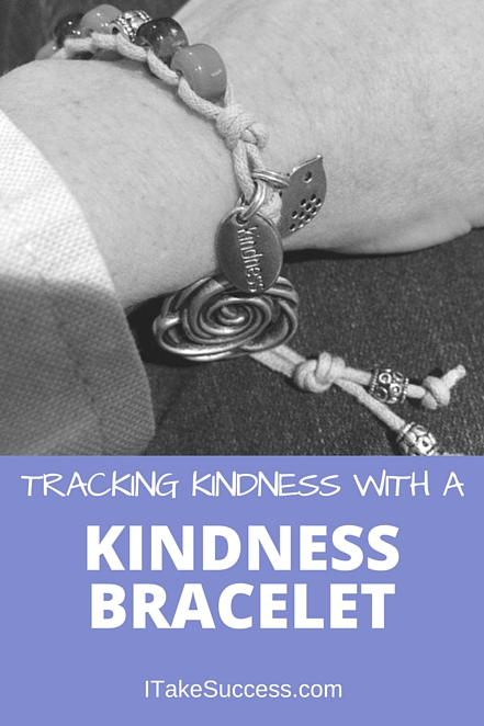 It's easy to dwell on the negative, but when a friend gave me a Kindness Bracelet I started tracking acts of kindness daily and every thing changed.