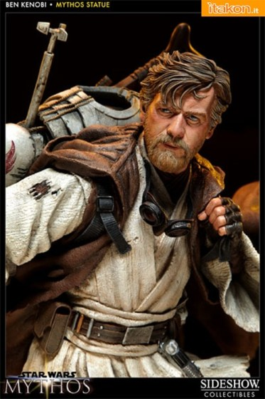 "Sideshow: SW: Obi-Wan Kenobi ""as Tatoinne Desert Nomad"" Polystone Statue - Immagini Ufficiali"