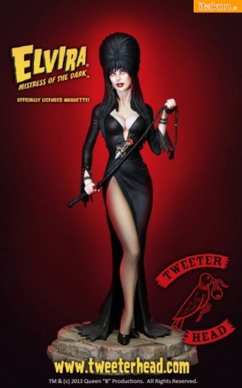 Elvira the Mistress of the Dark maquette di Tweeterhead (1)
