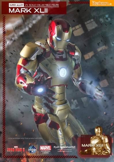 Iron Man 3 Super Alloy Mark XLII 14 Scale di Play Imaginative (1)