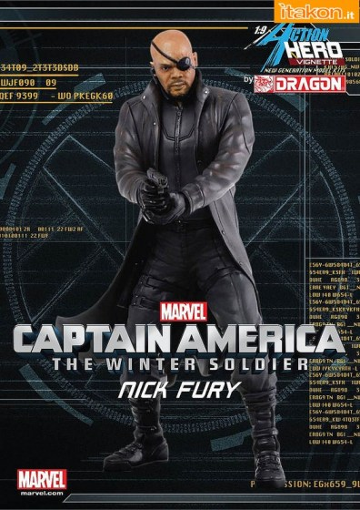 Captain America The Winter Soldier: Nick Fury  1/9 Action Hero Vignette di Dragon Models