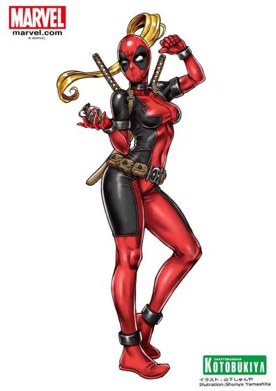 lady deadpool bishoujo kotobukiya
