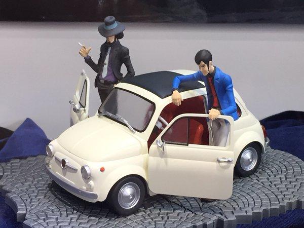 Prototipo colorato per Lupin e Jigen con la Fiat 500