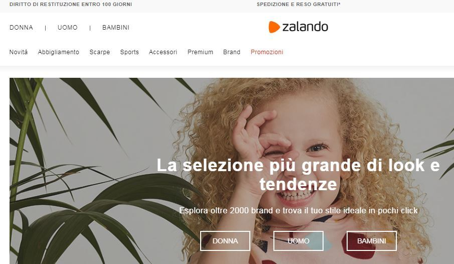 Siti abbigliamento online economici: Zalando