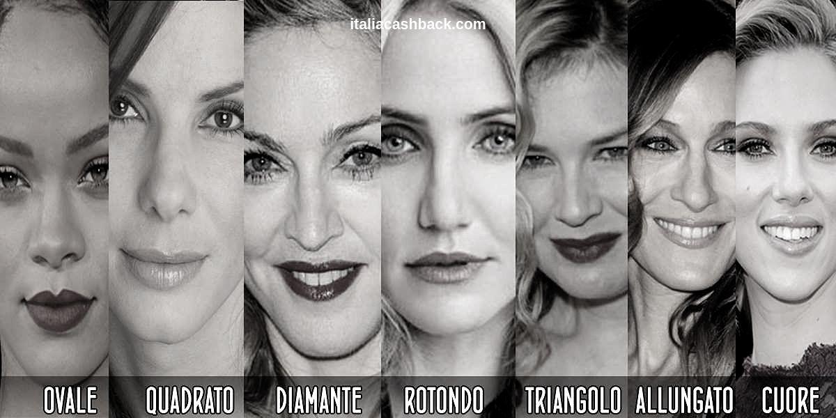 I tipi di forma del viso
