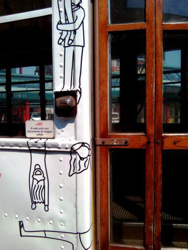 dettagli di un tram