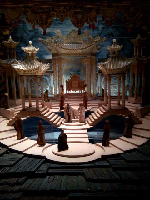 modellino per la Turandot diretta da Franco Zeffirelli