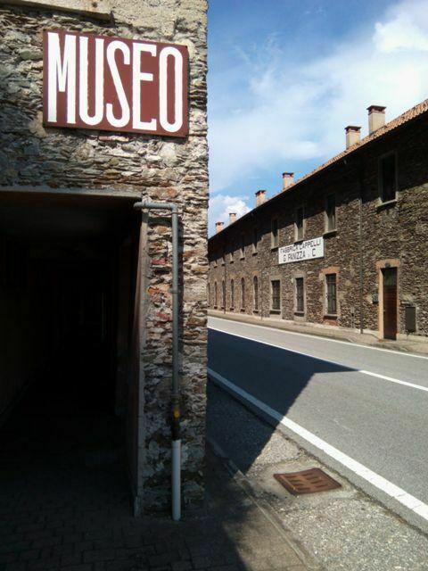 il museo dell'ex fabbrica Panizza a Ghiffa sul lago Maggiore