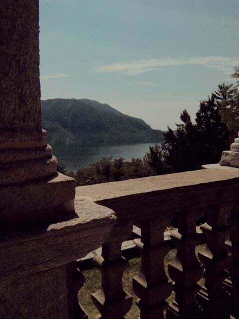 vista sul lago Maggiore dal Sacro Monte di Ghiffa