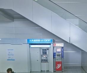 福岡空港の国際線ターミナル1Fの福岡銀行の外貨両替機