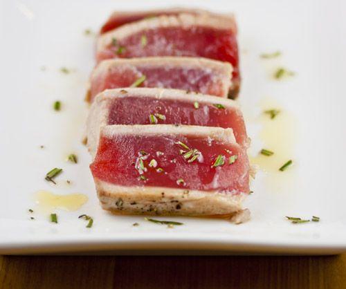 Seared Tuna With Rosemary Oil