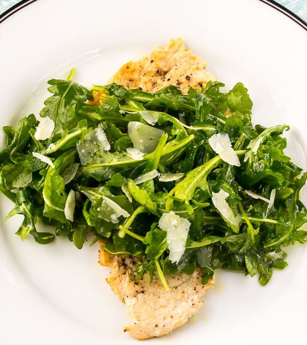 Chicken Paillard with Arugula Salad