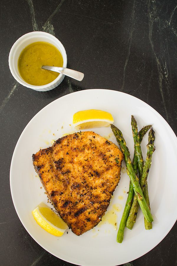 Grilled Swordfish with Breadcrumbs