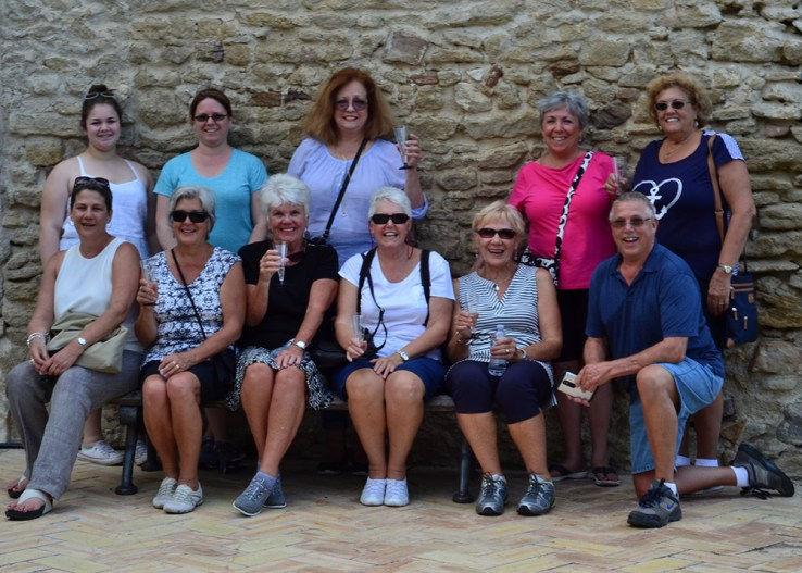 A group of our Italian Cooking Holiday graduates