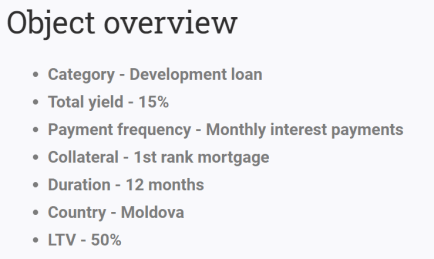 reinvest24 development loan