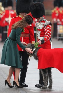 Duchess of Cambridge at St.Patricks Day Parade