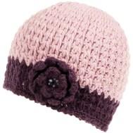 Cappelli Lana fashion: Cappellino rosa con fiore