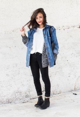 Giacca di jeans ampia