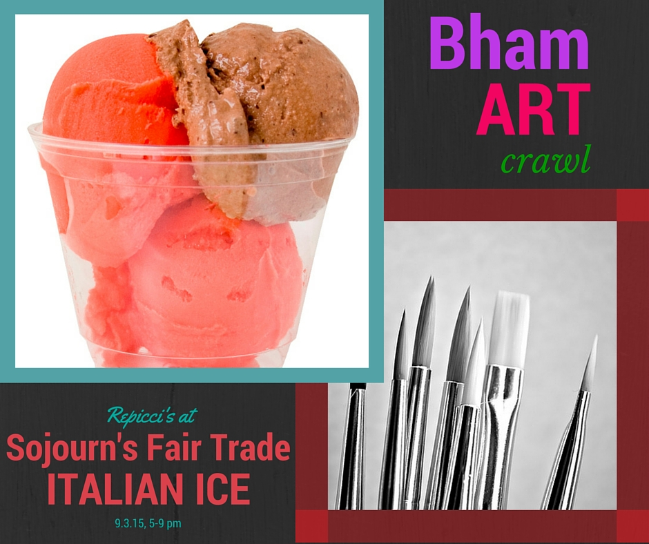 Italian Ice at Birmingham Art Crawl
