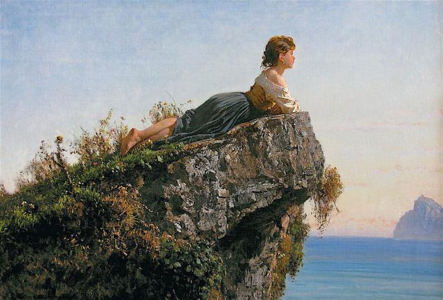 «Дівчинка на скелі біля Сорренто», Філіппо Паліцці