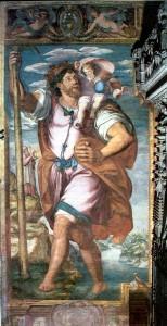 """Matteo da Lecce, """"San Cristoforo"""", cattedrale di Siviglia."""