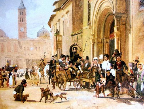 Wilhelm Mastrand - La benedizione degli animali a Sant'Antonio Abate