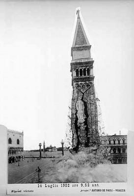 Открытка: обвал колокольни Сан-Марко