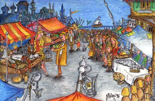 """""""Alla fiera dell'est"""", illustrazione di Alberto Melari"""
