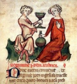 Vino – manoscritto Regimen Sanitatis – Francia, XIV sec.