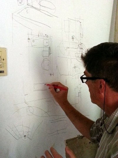 Working out some details on the wall