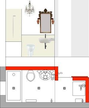 Bathroom elevation/plan