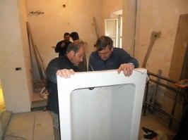 Plumbing the tub