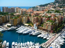 View of luxury yachts at Monaco