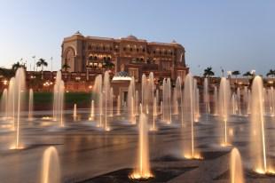 Emirates Palace at night, Abu Dhabi