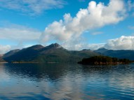 Morning on Lake Burbury in Tasmania, Australia