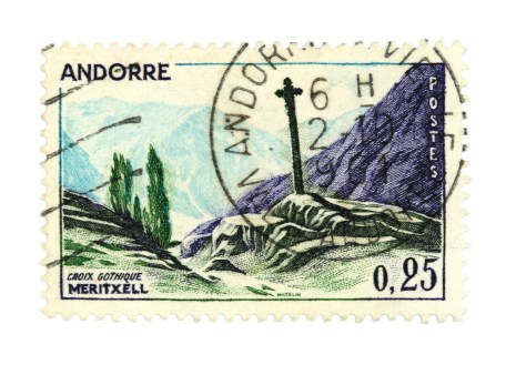 Collectible stamps from Andorra