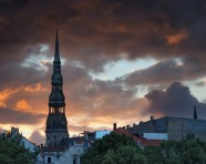 Sunset over Riga